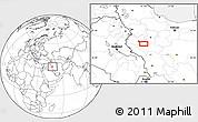Blank Location Map of Āhangarān-e `Olyā