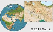 Satellite Location Map of Āhangarān-e `Olyā
