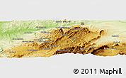 Physical Panoramic Map of Taza