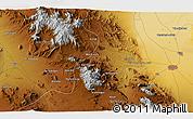 Physical 3D Map of Kāshān
