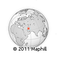 """Outline Map of the Area around 34° 0' 57"""" N, 52° 46' 29"""" E, rectangular outline"""