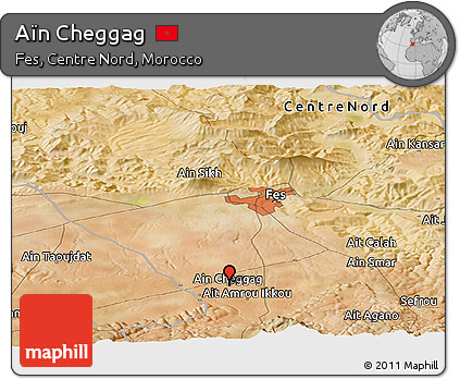 Free Satellite Panoramic Map of An Cheggag