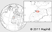 Blank Location Map of Meknès