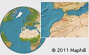 Satellite Location Map of Meknès