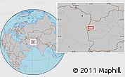 Gray Location Map of Chāqmāq
