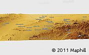 Physical Panoramic Map of Bozmishī