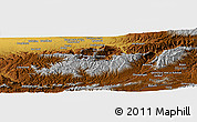 """Physical Panoramic Map of the area around 34°0'57""""N,62°58'30""""E"""