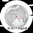 Outline Map of Āstāneh, rectangular outline