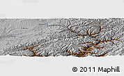 """Physical Panoramic Map of the area around 34°0'57""""N,65°31'30""""E"""