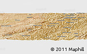 "Satellite Panoramic Map of the area around 34°0'57""N,65°31'30""E"