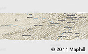 """Shaded Relief Panoramic Map of the area around 34°0'57""""N,65°31'30""""E"""