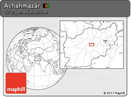 Blank Location Map of Achahmazār