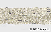 Shaded Relief Panoramic Map of Būrakoshteh