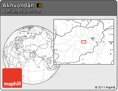 Blank Location Map of Akhvondān