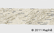 Shaded Relief Panoramic Map of Doborjeh