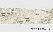 Shaded Relief Panoramic Map of Aḩmad Shāh Kheyl