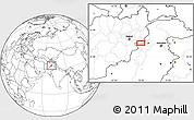 Blank Location Map of Akākheyl