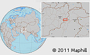 Gray Location Map of Akākheyl