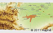 Physical 3D Map of Mullagori Kili