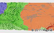 Political 3D Map of Mullagori Kili