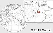 Blank Location Map of Peshāwar