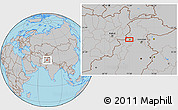Gray Location Map of Mullagori Kili
