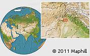 Satellite Location Map of Peshāwar