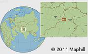 Savanna Style Location Map of Mullagori Kili