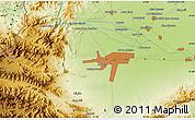 Physical Map of Mullagori Kili