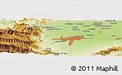Physical Panoramic Map of Mullagori Kili