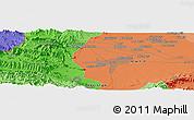 Political Panoramic Map of Mullagori Kili