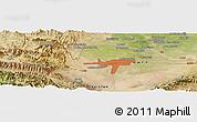 Satellite Panoramic Map of Mullagori Kili
