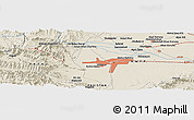 Shaded Relief Panoramic Map of Mullagori Kili