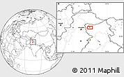 Blank Location Map of Srīnagar
