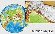 Physical Location Map of Srīnagar