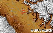 Physical Map of Srīnagar