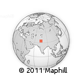 Outline Map of Srīnagar, rectangular outline