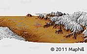 Physical Panoramic Map of Srīnagar
