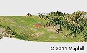 Satellite Panoramic Map of Srīnagar