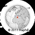 Outline Map of Tozeur, rectangular outline