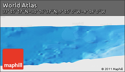 """Political Panoramic Map of the Area around 34°0'57""""N,9°16'30""""W"""
