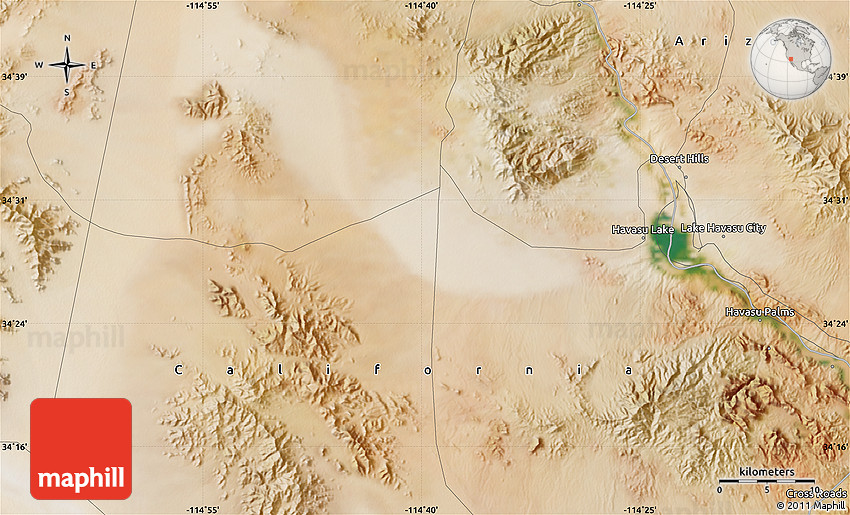 Satellite Map of Lake Havasu City