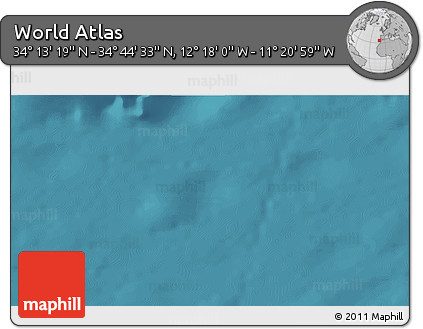 """Satellite 3D Map of the Area around 34°28'56""""N,11°49'29""""W"""
