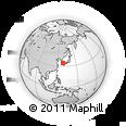 Outline Map of Nishidomari, rectangular outline
