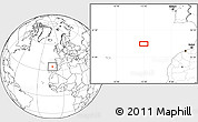 """Blank Location Map of the area around 34°28'56""""N,12°40'30""""W"""