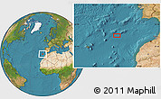 """Satellite Location Map of the area around 34°28'56""""N,12°40'30""""W"""