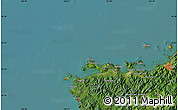 "Satellite Map of the area around 34°28'56""N,130°58'29""E"