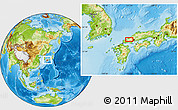 Physical Location Map of Tsuwano