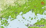 Physical Map of Okayama