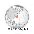 """Outline Map of the Area around 34° 28' 56"""" N, 136° 55' 30"""" E, rectangular outline"""